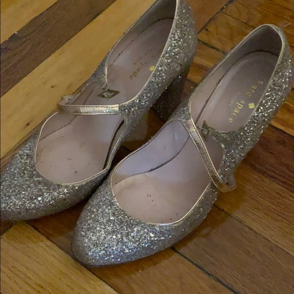 Kate Spade Glitter Mary Janes